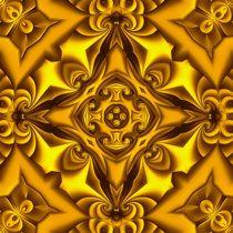 Silk Nugget Cream Mandala von Richard H. Jones