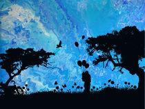 Blue Couple I von Nina-Christine Schwarz