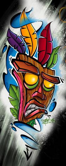 Tiki Maske Im Gamer Design by Oliver Walenta