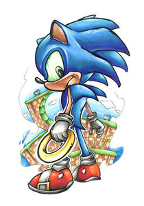 Sonic the Hedgehog  by Oliver Walenta