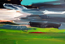 Naturspektakel - grünes blaues Bild von Conny Wachsmann