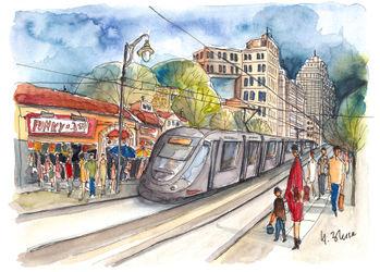 Jerusalem-tram-no-1-on-jaffa-street