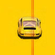 Yellow Porsche 911 Rear View von Stuart Row