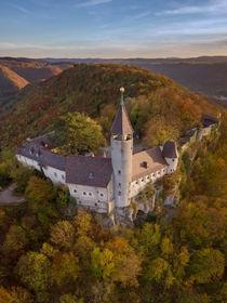 Burg Teck im Abendlicht von Christoph Hermann