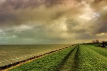 Deich und IJsselmeer bei Andijk von garrulus-glandarius