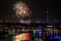 Phoenixsee mit Feuerwerk von Frank Heldt
