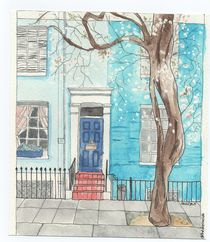 Notting Hill watercolor by Laura Gargiulo