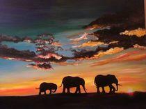Elefanten im Morgenrot von resoma