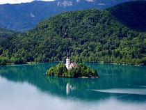 Panoramic view of Bled Lake by ambasador