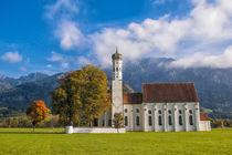 'Wallfahrtskirche St. Coloman bei Schwangau - Ostallgäu' von Christine Horn