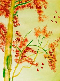 autumn tree von Maria-Anna  Ziehr