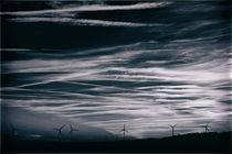 Silhouetten von Windrädern  von Bastian  Kienitz