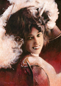 Vintage Vampire Lady by Michael Thomas