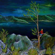 Träumend im roten Hemd by Matthias Kronz