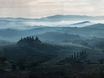 Foggy morning in Toscany by Jarek Blaminsky
