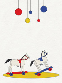 Two little rocking horses by Sybille Sterk
