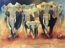 Elefanten in Freiheit von Ulla Schönhense