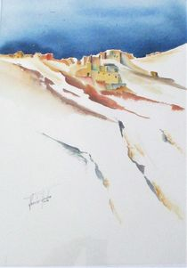 Bergdorf in Andalusien by Theodor Fischer