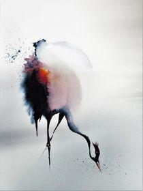 Kranich, Zugvogel, Vogel,  by Theodor Fischer