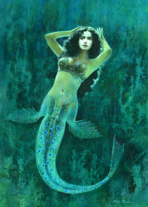 Vintage Surreal Mermaid von Michael Thomas