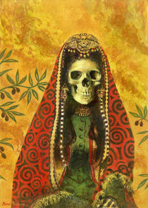 Decorative Skeleton Sorceress by Michael Thomas