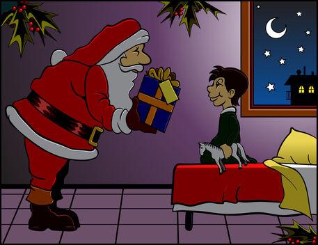 Santa-brings-gift