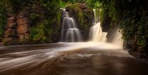 Penllergare waterfalls in Swansea von Leighton Collins