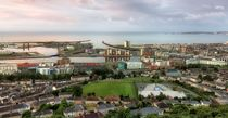 Swansea city from Kilvey Hill by Leighton Collins