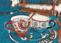 Twin Coffee Cups by Carmen Wolters