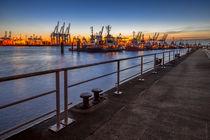Das letzte Licht an der Hafenkante von photobiahamburg