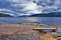 Loch Ness from Dores Beach by Jacqi Elmslie