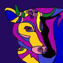 Geduldige KUH violett von SUSANNE eva maria  FISCHBACH