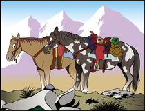 Mountain horses von William Rossin