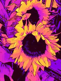 Blumen Poster Funky-SunFlowers von WelikeFlowers.de von Robert H. Biedermann