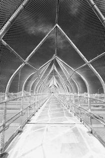 Bridge under Monsoonsky BW von Elisabeth  Lucas
