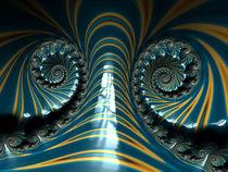 Blue Banded Spirals von Elisabeth  Lucas
