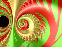 Bright Red and Green Spiral von Elisabeth  Lucas