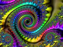 Fractal Rainbow Swirls von Elisabeth  Lucas