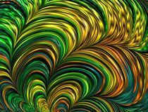 Green Fractal Tornadoes von Elisabeth  Lucas