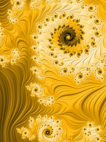 Yellow Swirls and Spirals von Elisabeth  Lucas