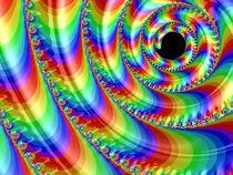 Round Rainbow Spiral von Elisabeth  Lucas