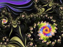 Black Swirl Garden von Elisabeth  Lucas