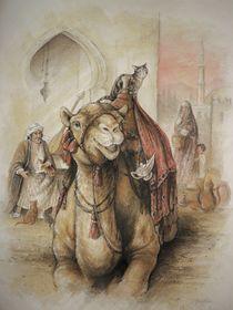 Kamel mit Katze by Jonathan Petry