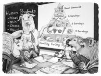 Healthy Eating Lesson by Barbara Daniels Art