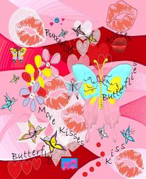 Butterflies and Kisses by eloiseart