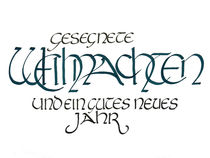 Weihnachts-Kalligrafie by Jutta Blühberger
