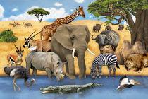 Wimmelbild_Tiere in Afrika von Marion Krätschmer