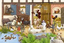 Wimmelbild_Tiere auf dem Bauernhof by Marion Krätschmer