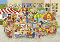 Wimmelbild_Markttag von Marion Krätschmer