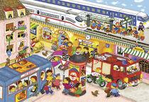 Wimmelbild_Am Bahnhof von Marion Krätschmer